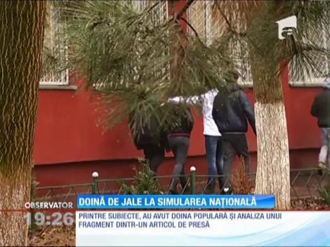 Elevii de clasa a VIII-a, examen simulat la limba română