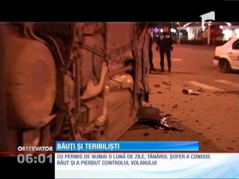 Trei tineri au scăpat teferi, cu mult noroc, dintr-un grav accident rutier petrecut pe o stradă din Baia Mare