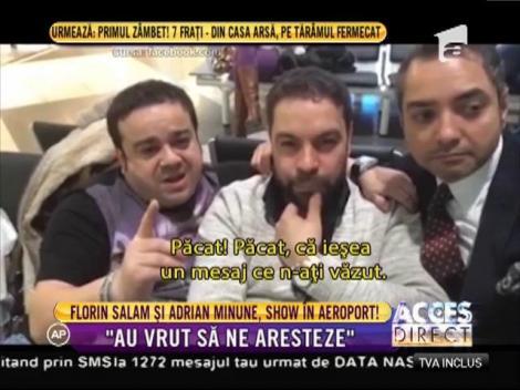 """Florin Salam și Adrian Minune au făcut show total la aeroport! """"Au vrut să ne aresteze!"""" Fanii și-au făcut cruce când au văzut asta!"""