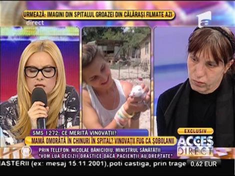 """Ministrului Sănătății, Nicolae Banicioiu: """"Situația este foarte gravă la spitalul din Călărași"""""""