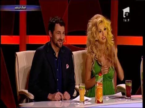 Cezar Ouatu, din nou în rol de femeie! Publicul a dansat pe melodia cântăreței Sava Negrean Brudașcu!
