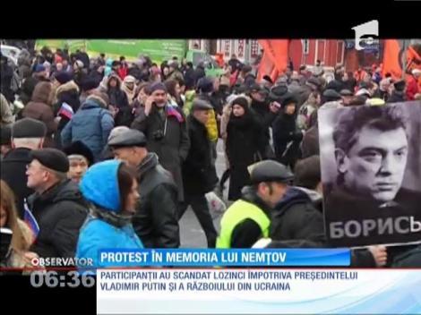 Protest la Moscova în memoria lui Boris Nemţov