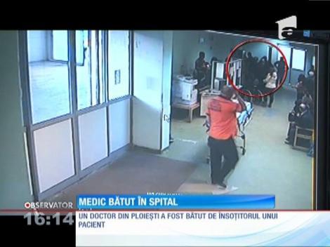 Un medic din Ploieşti s-a ales cu piciorul rupt după ce a căzut pradă furiei rudelor unei paciente