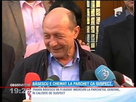 Băsescu e chemat la Parchet ca suspect