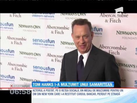 Tom Hanks  i-a mulţumit pe internet unui bărbat care i-a înapoiat cardul de credit