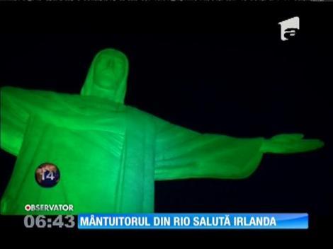 Statuia lui Iisus, din Rio de Janeiro, a fost luminată în verde