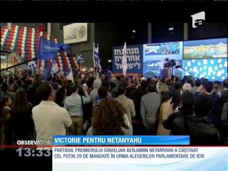 Victorie pentru Benjamin Netanyahu