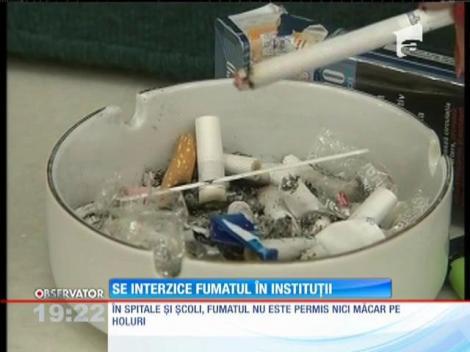 Senatorii au votat legea prin care se interzice fumatul în instituțiile publice