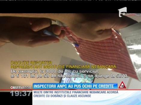 Creditele rapide cu dobânzi uriaşe au intrat în atenţia inspectorilor APC