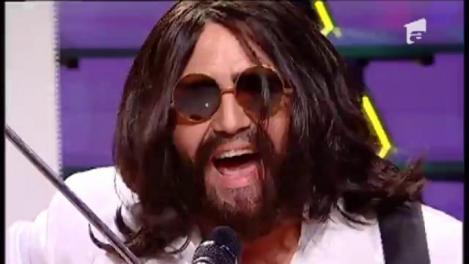 """Daniel Iordăchioae se transformă în John Lennon - """"Give peace a chance"""""""