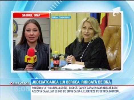 Judecătoarea care a încercat să-l elibereze pe Bercea Mondial, ridicată de procurorii DNA