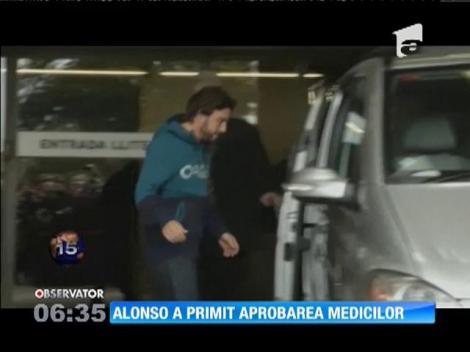Fernando Alonso a primit aprobarea medicilor