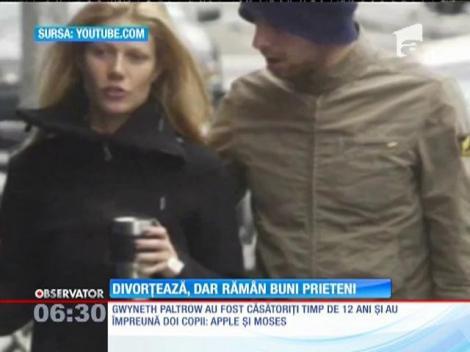 Gwyneth Paltrow şi solistul trupei Coldplay, la final de mariaj
