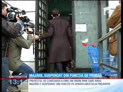 Radu Mazăre a fost suspendat din funcţia de primar al Constanţei