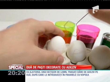 Special! Ouă de Paști decorate cu adeziv