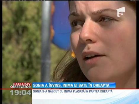 Sonia s-a născut cu o malformaţie cardiacă gravă, fără arteră pulmonară