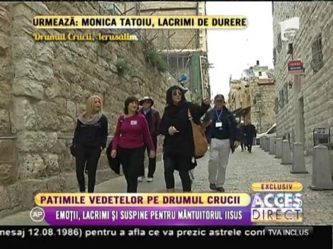 Emoții, patimi și suspine pentru Mântuitorul Iisus! Carmen Tănase, Monica Tatoiu și Nicoleta Luciu au refăcut Drumul Crucii, la Ierusalim
