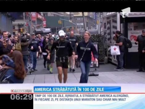 A străbătut America alergând, în fiecare zi, pe distanţa unui maraton sau chiar mai mult