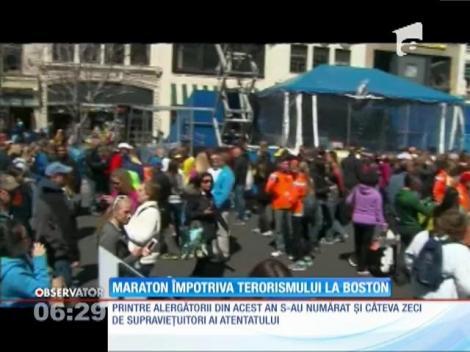 Maraton împotriva terorismului organizat la Boston