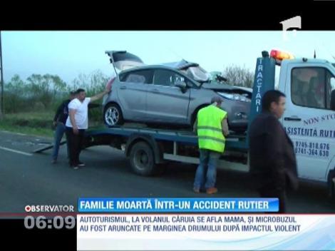 Familie moartă într-un accident rutier