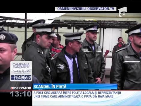 Scandal într-o piaţă din Baia Mare