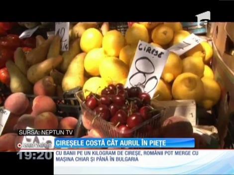 În piețe cireșele costă cât aurul