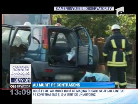 Două femei au murit într-un grav accident petrecut pe drumul naţional care leagă Baia Mare de Satu Mare