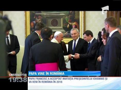 Papa Francisc va veni în România în 2018