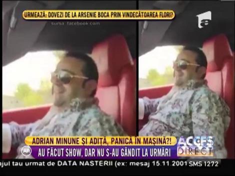 Adrian Minune şi fiul lui, concert în mașină