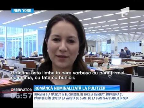 Româncă nominalizată la Pulitzer
