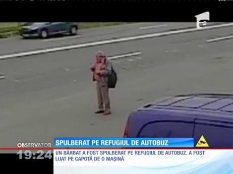 Un bărbat a fost spulberat de o maşină pe un refugiu de autobuz, în Baia Mare