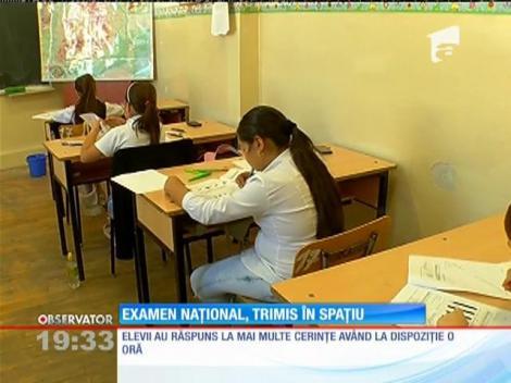 Elevii au fost nevoiţi să cântărească rachete la examenul naţional