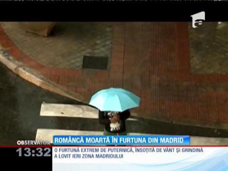 Româncă moartă în furtuna din Madrid