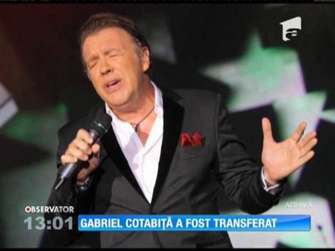 Gabriel Cotabiţă a fost transferat la Spitalul Elias din Capitală
