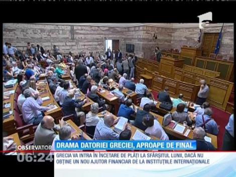 Grecia va intra în încetare de plăţi la sfârșitul lunii