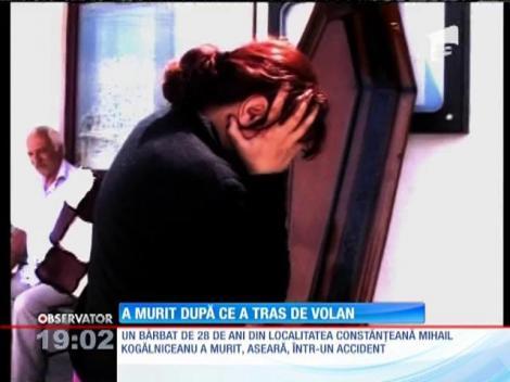 Un tânăr din Constanţa a murit după ce a tras de volanul maşinii pe care o conducea soţia lui
