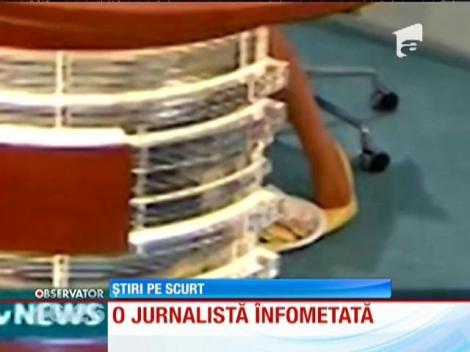 Jurnalistă înfometată