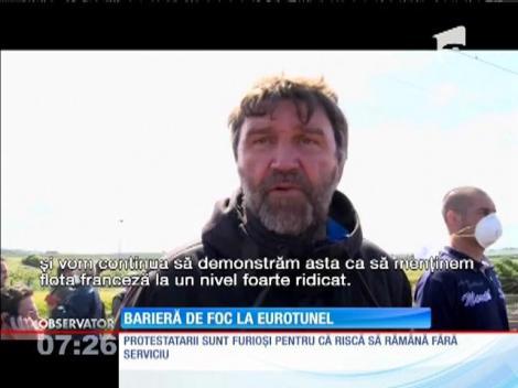 Tunelul de sub Canalul Mânecii a fost închis din cauza unui protest fără precedent