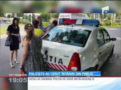 Polițiști fără forță. Au cerut ajutorul martorilor ca să poată imobiliza un bărbat nervos
