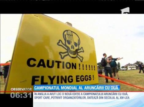 În Anglia a avut loc campionatul mondial al aruncării cu ouă