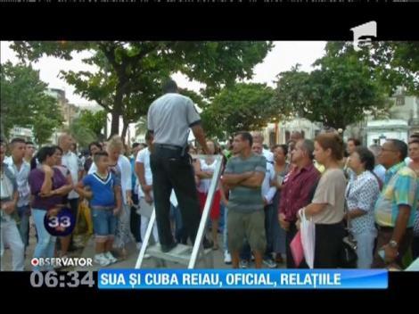 SUA  şi Cuba au anunţat, oficial, reluarea relaţiilor diplomatice după mai bine de 50 de ani de ostilitate