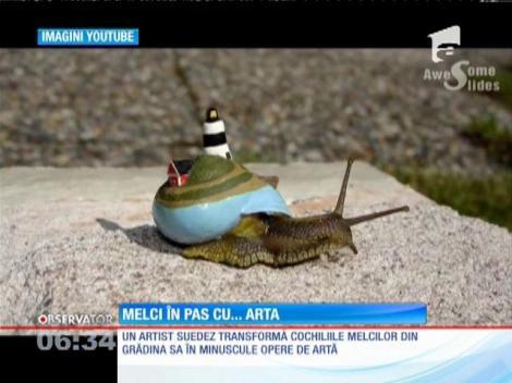 Un artist suedez transformă cochiliile melcilor în opere de artă