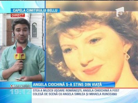 Fosta stea a muzicii uşoare, Angela Chiochină, găsită fără suflare în casa de la Bucureşti