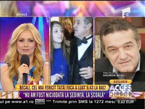Gigi Becali, cel mai fericit tată! Fiica lui Alexandra a luat 9,43 la BAC!