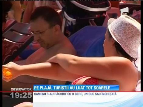 Turiştii de pe litoral nu țin cont de pericolele la care sunt expuși din cauza soarelui
