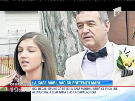 Fiica lui Gigi Becali a trecut cu brio examenul maturităţii