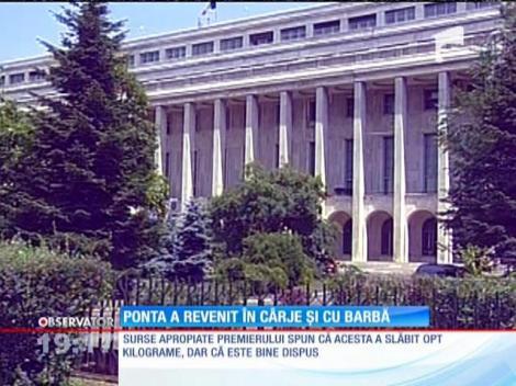 Victor Ponta s-a întors în ţară