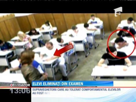 Bacalaureat 2015.  Eliminaţi din examen după ce camerele de supraveghere i-au surprins copiind