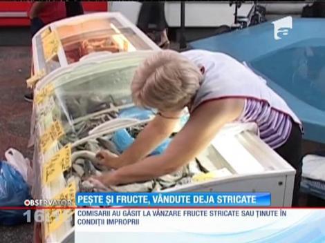Peşte şi fructe stricate în cea mai mare piaţă agroalimentară din Ploieşti
