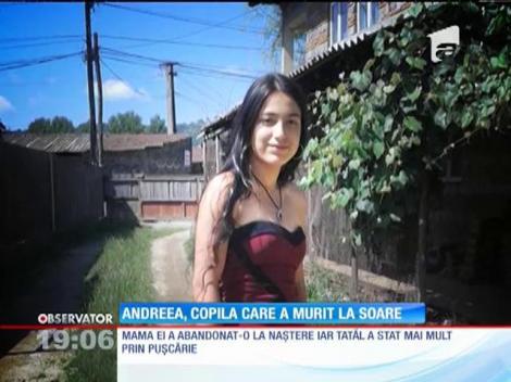 Andreea, copila de 14 ani, din Argeş, care a murit la soare